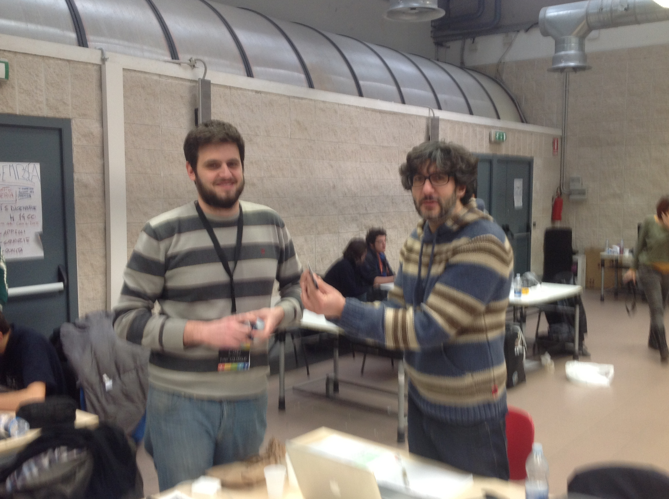 Andrea Ferlito and Ciro Continisio at #GGJ13