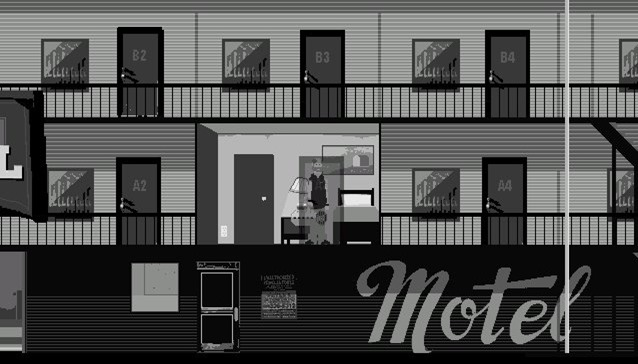 A room in a motel
