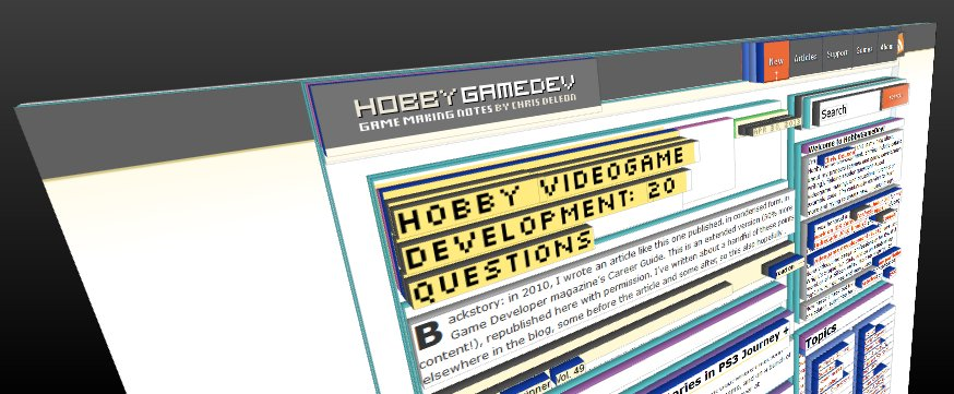 Hobby Game Dev site layers