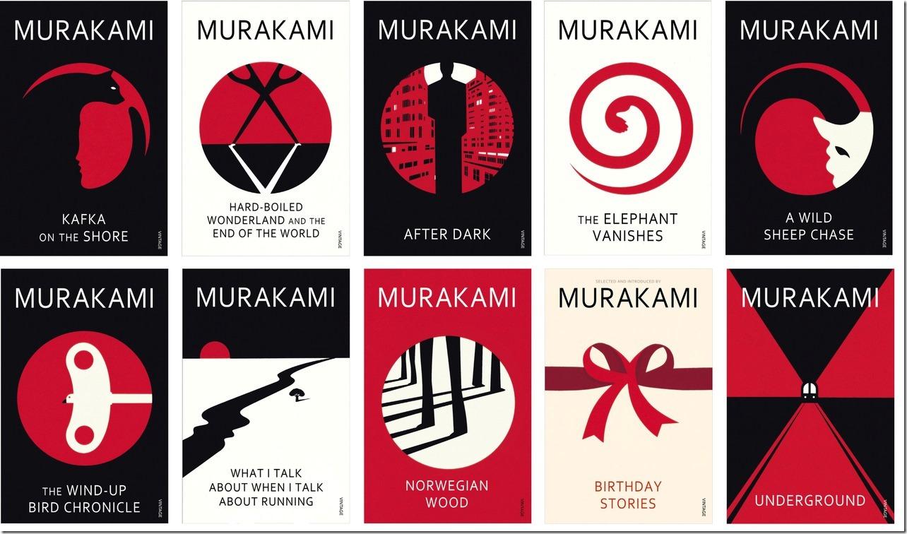 Murakami's book covers