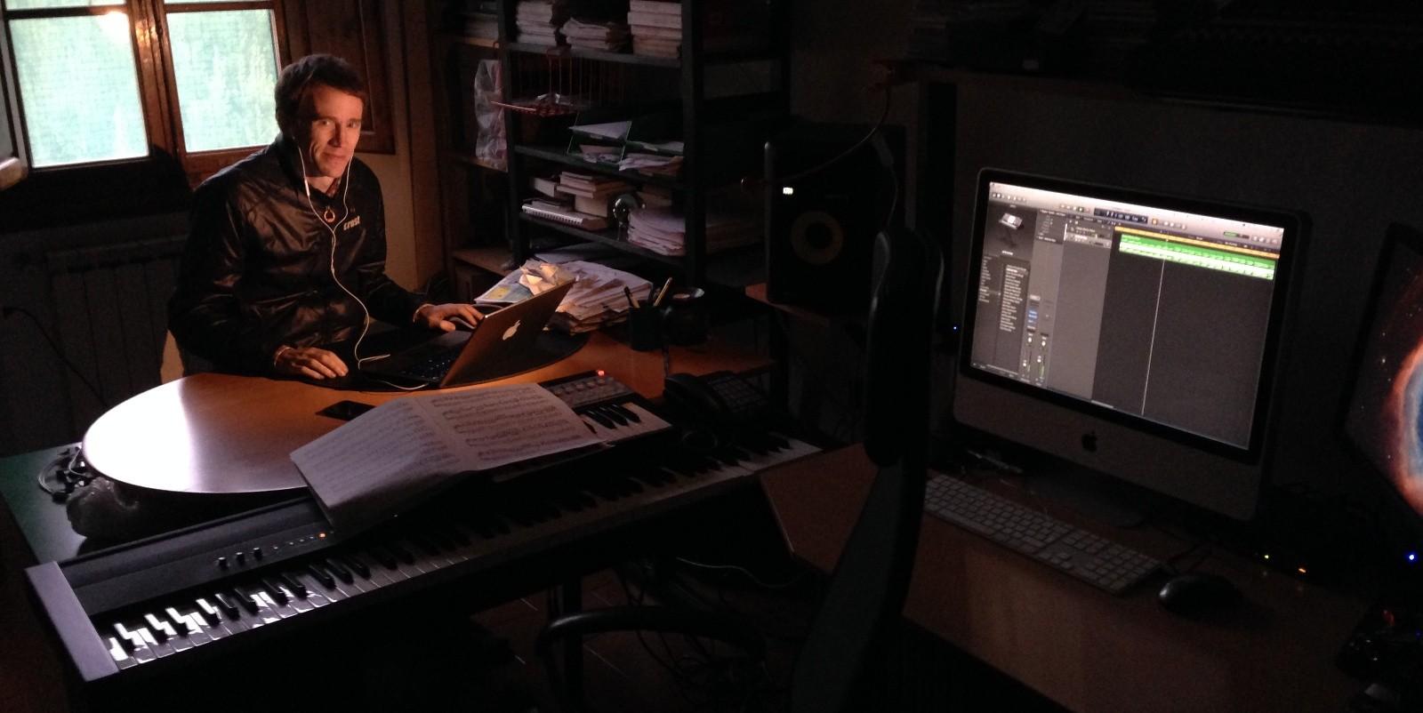 Pietro visiting Krur's studio