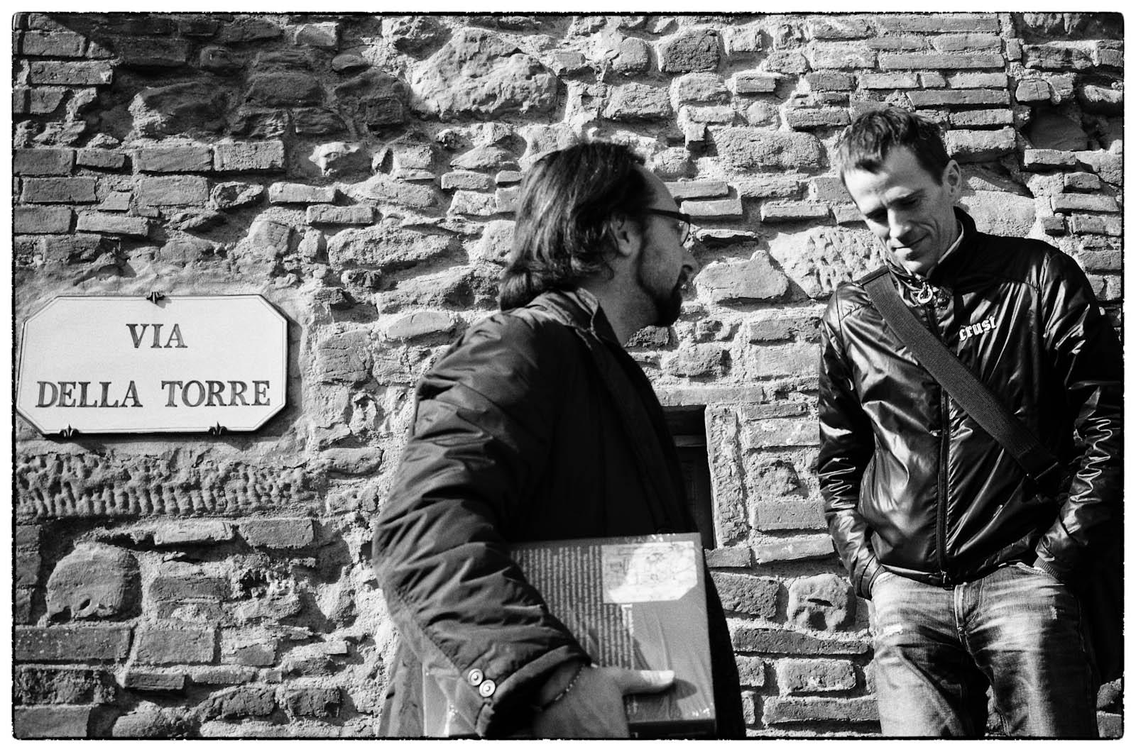 Alex and Pietro at Da Vicni birthplace