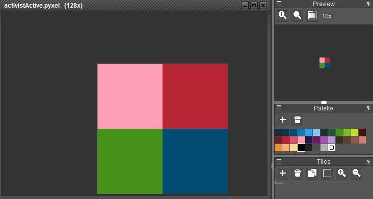 2 pixel wide activist
