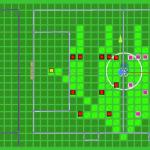 A* in a football field