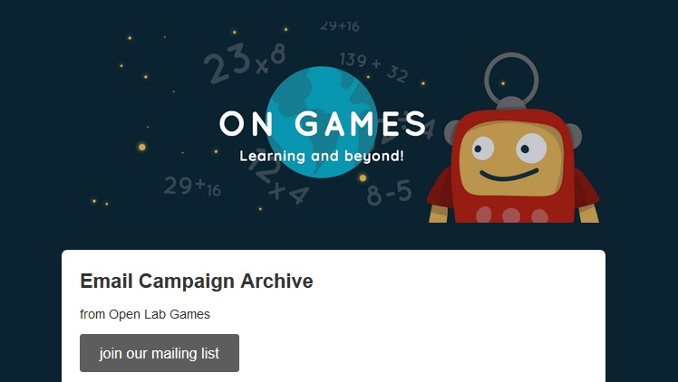 Open Lab Games mailing