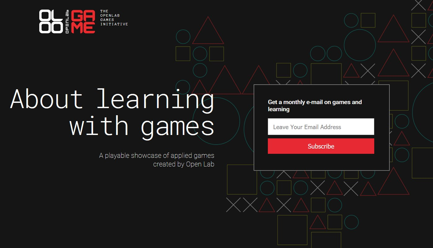 Open Lab Applied Games Website